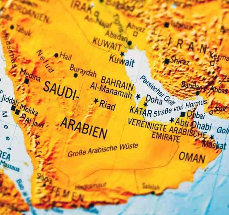 Arabien - Karte der Halbinsel