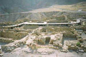 Die Ruinen von Qumran