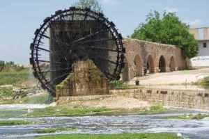 Syrien: historische Wassermühlen am Orontes