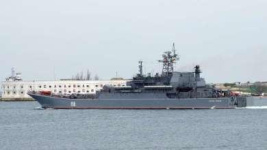 """Photo of سفينة الإنزال """" تيسزار كونيكوف"""" دخلت المتوسط متجهة إلى سوريا"""