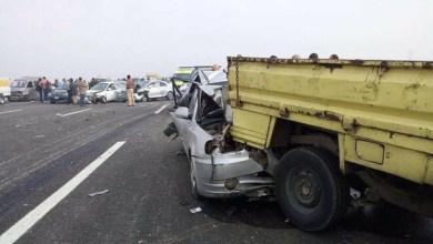 "Photo of حادث ""غريب"".. تصادم بين 24 سيارة دفعة واحدة في مصر"