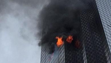 Photo of الرئيس الأميركي يغرد عن إخماد حريق برج ترمب