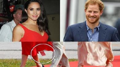 Photo of عبارة عربية في فستان وخطأ فادح ارتكبته زوجة الأمير هاري