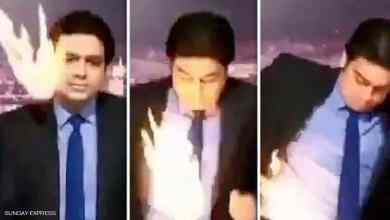 Photo of مذيع تلفزيوني يحترق على الهواء مباشرة