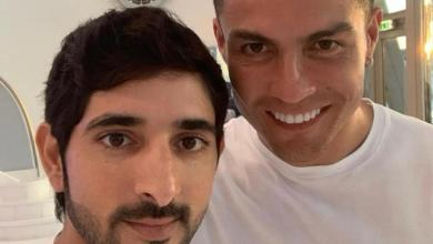 Photo of ولي عهد دبي ينشر صورة مع كريستيانو رونالدو
