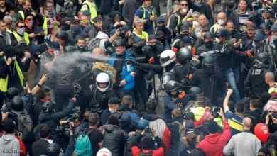 """Photo of """"السترات الصفر"""" تعود إلى شوارع فرنسا باشتباكات مع الشرطة"""