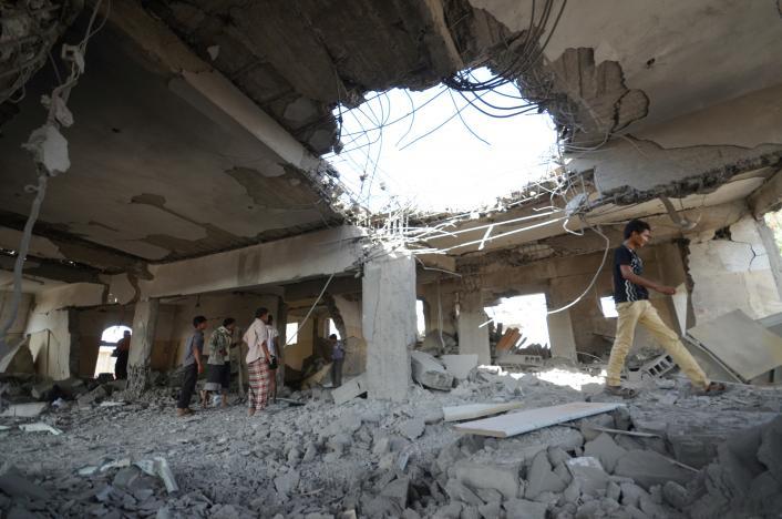 غارة جوية سعودية تقتل 45 شخصاً في اليمن