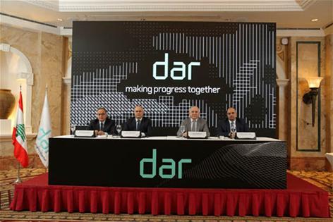 من اليمين: مصطفى ماضي، رياض منيمنة، جوزيف حجار وفؤاد الخوري
