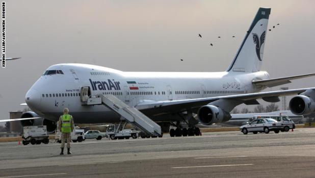 طائرة بوينغ من الخطوط الإيرانية