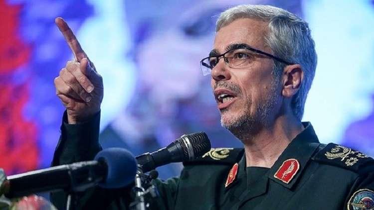 من جزيرة أبو موسى المتنازع عليها مع الإمارات.. رئيس أركان الجيش الإيراني يحذر دول الخليج