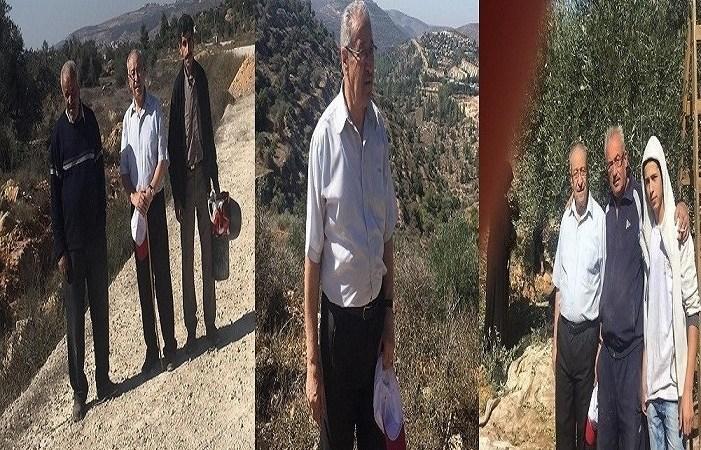 تيسير خالد يشارك الأهالي في قريوت قطاف الزيتون