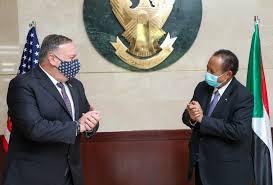 حمدوك لبومبيو: حكومة السودان غير مفوضة بتطبيع العلاقات مع إسرائيل
