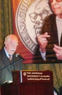 In 2010, presiding over the Naguib Mahfouz Medal for Literature that he helped found.