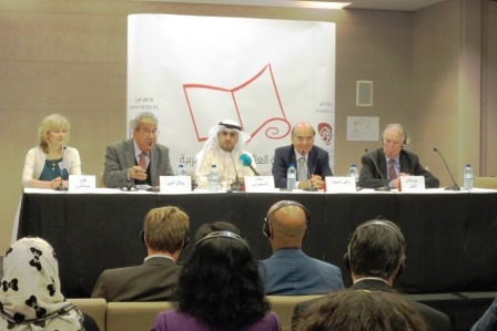 The post-award press conference, at which reporters asked about the role nationality played in the prize, the gender imbalance, how Alsanousi thought his book might contribute to a discussion of migrant labor in the Gulf, and more.