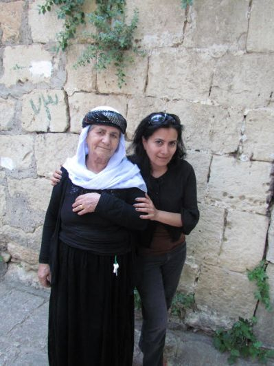A Yazidi woman and the author.