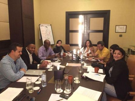 Authors and mentors at work. Photo courtesy IPAF.