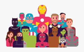 Avengers Mehndi Design