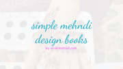 simple mehndi books