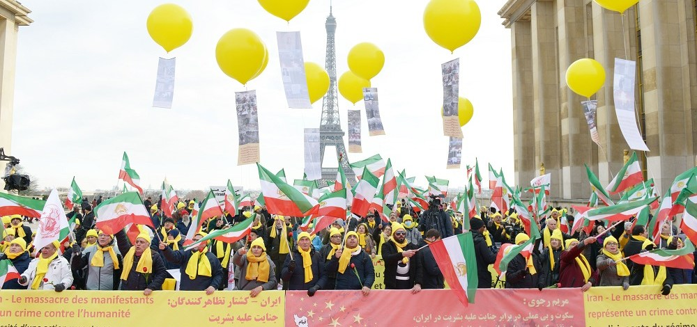 NCRI and MEK Hold Major Gathering in Paris in Support of Iran Protests