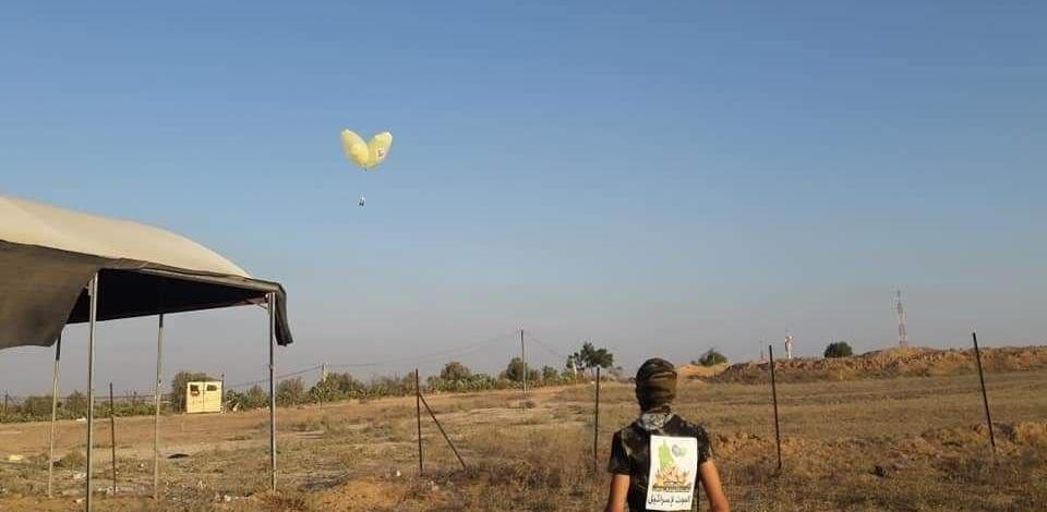 6 incendiary balloons fires today in Kissufim forest (Video)