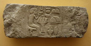 parte di stele egizia