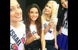 selfie Miss Libano e Miss Israele