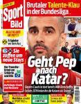 Guardiola copertina BILD Qatar