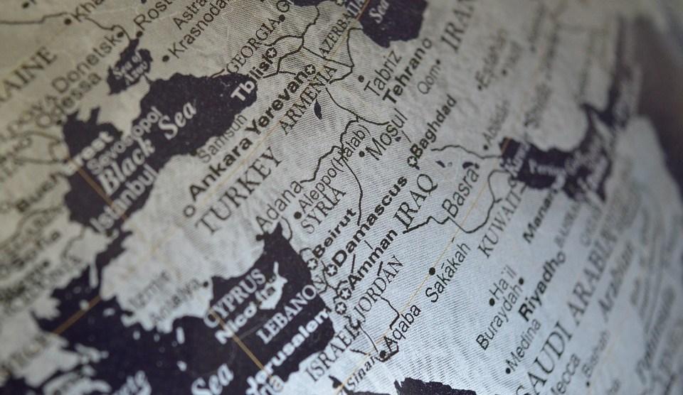 medio oriente mappa