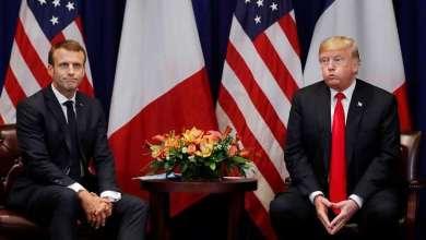 """Photo of ترامب يصل الى فرنسا وينتقد تصريحات ماكرون ويصفها بأنها """" مهينة للغاية """""""