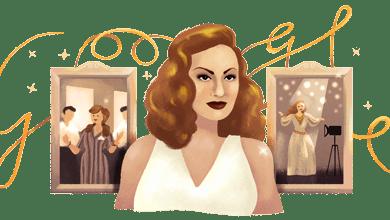 "Photo of جوجل يحتفل بالذكرى الـ 87 لميلاد ""مارلين مونرو الشرق "" الفنانة هند رستم"
