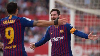 Photo of برشلونة يفوزعلى إشبيلية في الليجا بالهاتريك رقم 50 في تاريخ ميسي