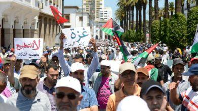 Photo of المغرب : الآلاف يتظاهرون ضد مؤتمر البحرين ويرفضون مشاركة بلادهم فيه