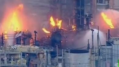 Photo of حريق كبير في مصفاة نفط في فيلادلفيا الأمريكية