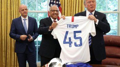"Photo of ترامب يلتقي مع رئيس ""الفيفا"" في نيوجيرسي"