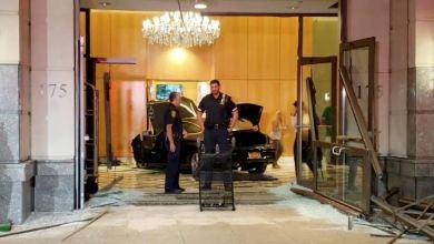 Photo of سيارة تقتحم مبنى ترامب بلازا في نيويورك