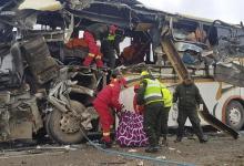 Photo of مقتل 21 شخصًا وإصابة 29 في اصطدام حافلتين بالسودان