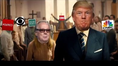 Photo of البيت الأبيض يتبرأ من فيديو زائف يطلق فيه ترامب النار على الصحفيين
