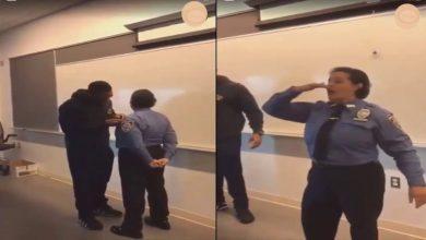 Photo of بالفيديو.. شرطية مغربية في أمريكا تحتفل بالزغاريد بعد ترقيتها