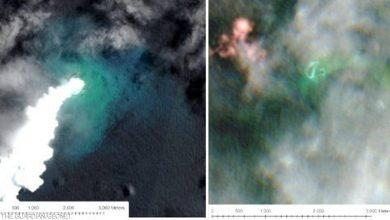 Photo of ثوران بركان يتسبب في إغراق جزيرة وظهور أخرى