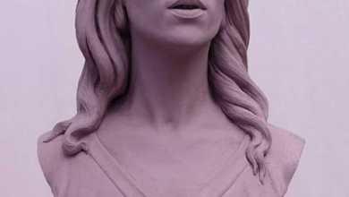 "Photo of فنان مصري ينحت تمثالاً للمطربة اللبنانية ""فيروز"""