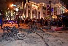Photo of إصابة 18 بينهم 5 صحفيين في انفجار قنبلتين بتايلاند
