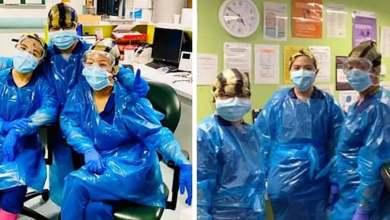 Photo of قصة مؤثرة لممرضات أُصبن بفيروس كورونا بعدما ارتدين أكياس قمامة