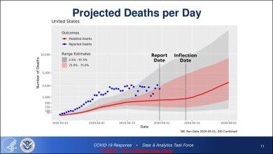 Photo of تقرير: وفيات كورونا في أمريكا سترتفع إلى 3 آلاف يوميًا بحلول يونيو