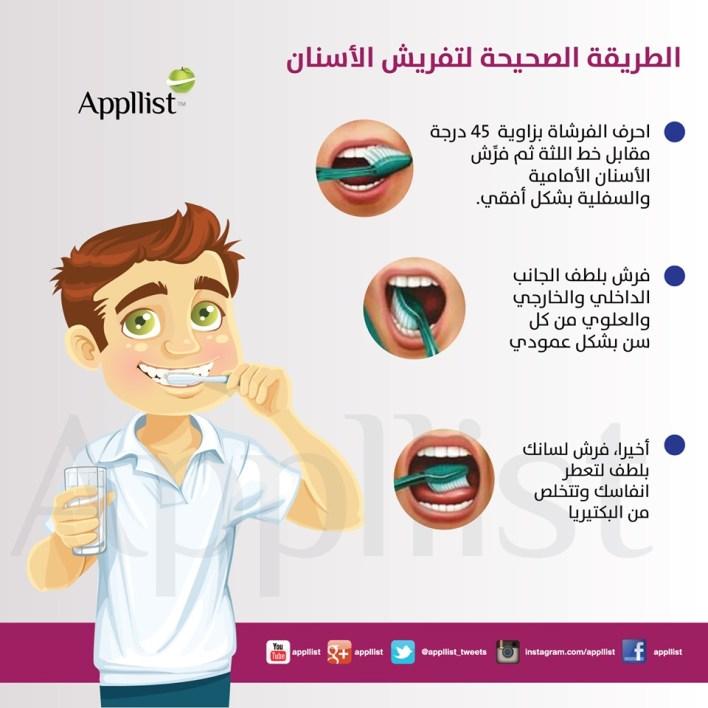 تنظيف الأسنان بالفرشاة بعد تناول الطعام مباشرة