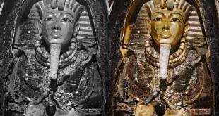 أوّل صور ملوّنة لمقبرة الملك الفرعوني توت عنخ آمون