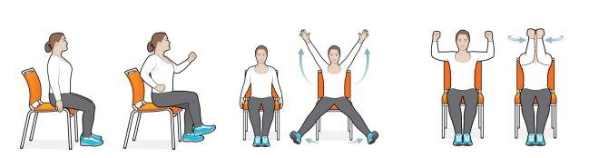 بعض التمارين البسيطة أثناء الجلوس