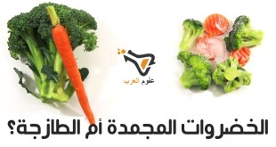 مقال - أيهما صحي أكثر : الخضروات المجمدة أم الطازجة؟