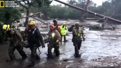 الشاهد على الكارثة : انهيال الوحول في كاليفورنيا