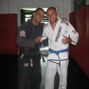 Ali El Ezzabi with Olavau Abreu