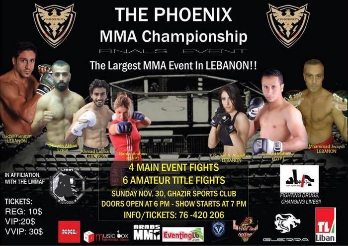 Phoenix MMA Championship Finale Set For November 30 - ArabsMMA